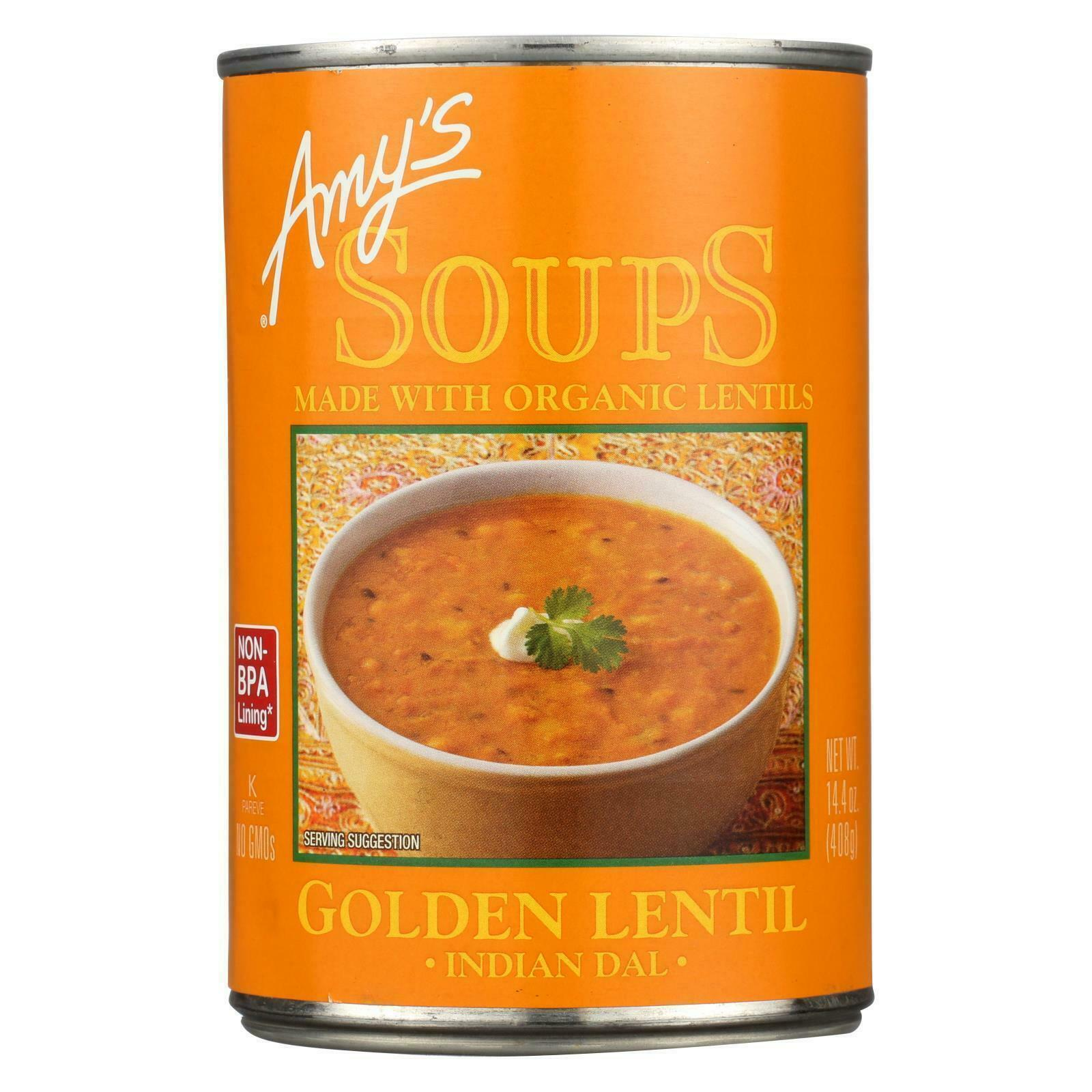 Primary image for Amy's Organic Golden Lentil Soup 14.4 oz ( Pack of 2 )