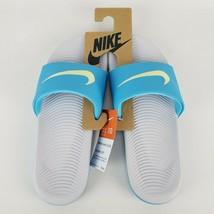 Nike Women's Kawa Slides Sandals Size 10 Blue Fury/Sky Grey  New - $26.09