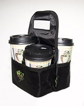 Eco on the Go: REUSABLE INSULATED TRAVEL COFFEE and DRINK Tote Bag Black