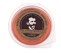 Colonel Ichabod Conk AMBER Super Bar Shave Soap 3-3/4 oz - Extra Large Size