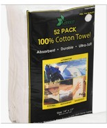 """52 Large Ultra Soft Absorbent 100% Cotton Terry Towel Cloths 14x17"""" Car ... - $28.62"""