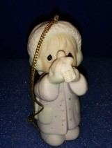 1987 Precious Moments Christmas Ornament # 112372. I'm Sending You A White Xmas - $9.80