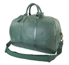 Authentic LOUIS VUITTON Kendall PM Green Taiga Leather Travel Boston Bag... - $473.39 CAD