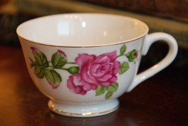 VINTAGE ROSE TEA CUP PORCELAIN JAPAN FINE QUALITY BONE CHINE PORCELAIN E... - $17.99