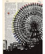 Art N Wordz Ferris Wheel Fest Original Dictionary Sheet Wall/Desk Pop Ar... - $21.00