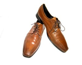 Kenneth Cole New York EXTRA DISTANCE Men's 9M Brown Oxford Dress Work Sh... - $41.91