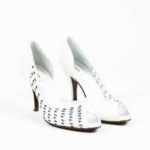 Fendi White Lambskin Leather Zucchino Cutout D'Orsay Pumps SZ 37 - $120.00