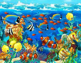 Under Water Sea Scape Aqua Wall Art Mural Self Adhesive Vinyl Wallpaper V4 - $47.93+