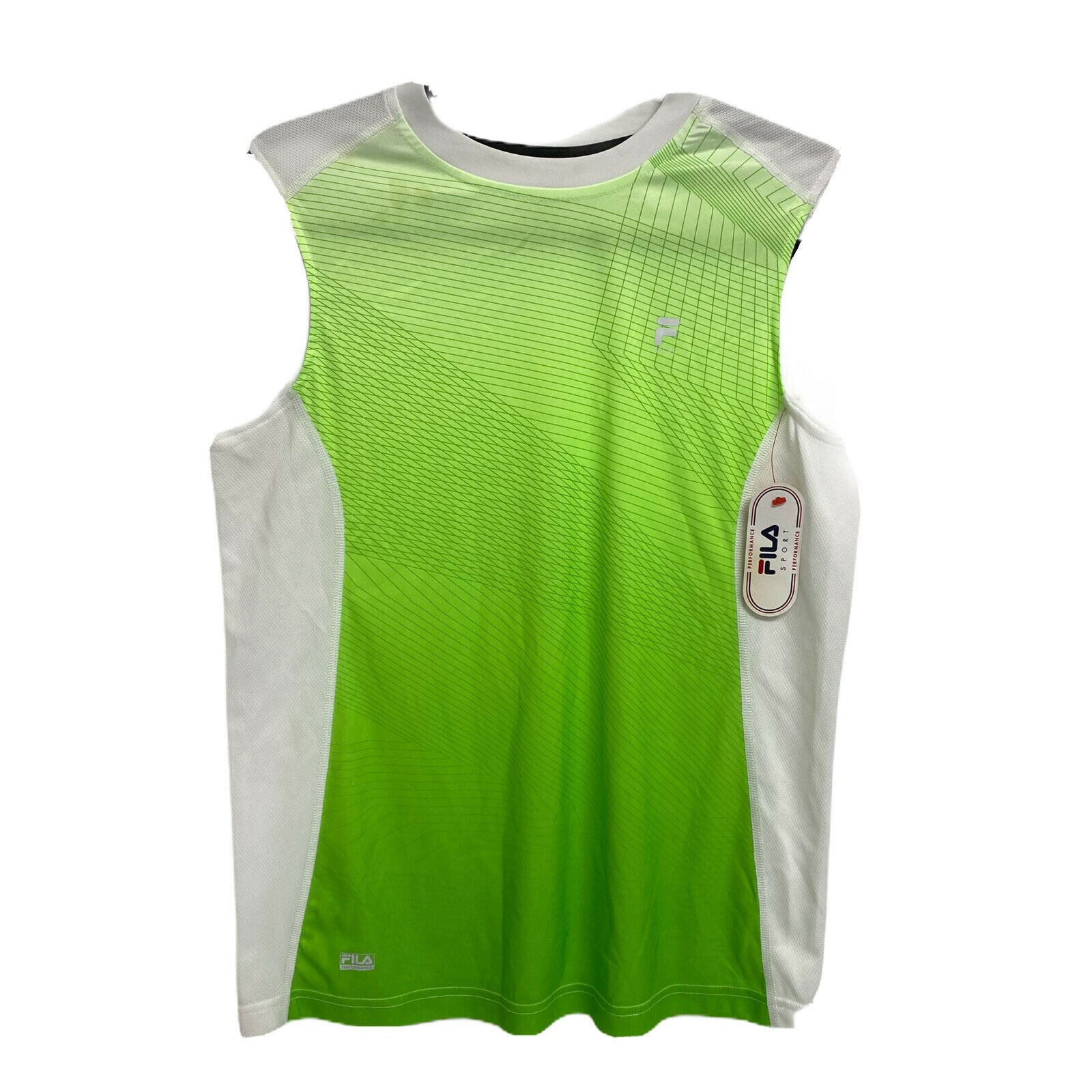Primary image for FILA Performance sport youth boys t-shirt sleeveless white neon size XL 18-20