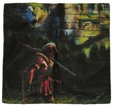 "22""x22""Native American Indian Wolf Mountains Printed 100% Cotton Bandana - $6.88"