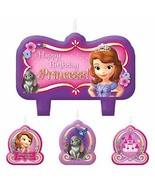 Sofia The First Birthday Candle Set (4 Pack) wax - $7.12