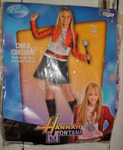 Hannah Montana Denim Dress Red Jacket Costume New 7-8 Halloween - £9.39 GBP