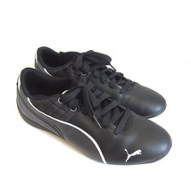 C-1344 New Puma Drift Cat 6 Black Leather Sneakers Shoes Size US 8 - $73.49