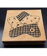 Rubber Stamp by Northern Spy Large Patch Star Wood Mounted Rubber Stamp ... - $9.85