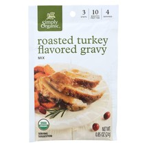 Simply Organic Roasted Turkey Flavored Gravy Seasoning Mix - Case Of 12 ... - $32.28