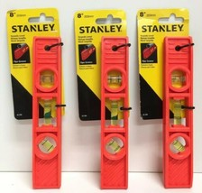"(New) Stanley 42-294 8"" Torpedo Level Lot of 3 - $20.78"