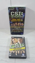 CSI: Crime Scene Investigation Crime Game & Booster Pack #1 with pc dvd - $9.40
