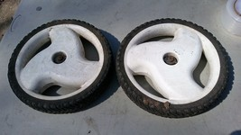 "7PP00 Toro 22"" Mower Parts: Rear Wheels, 10-3/4"" X 2"", Good Condition - $19.57"