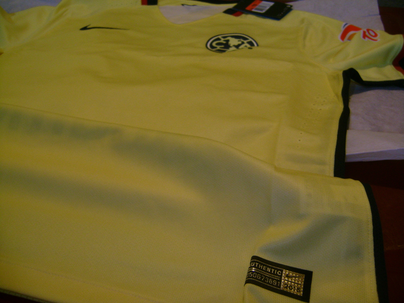 35252acffd5 NIKE CLUB AMERICA AUTHENTIC MATCH HOME JERSEY 2015/16 NO SPONSOR.