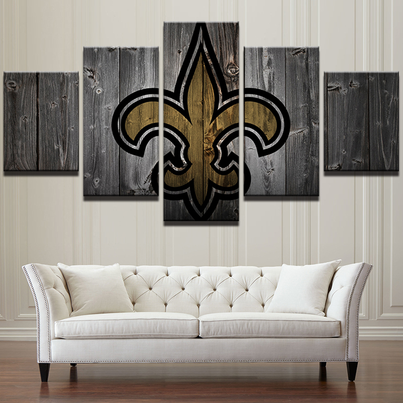 Home Decor New Orleans: New Orleans Saints Football 5 Piece Canvas Art Wall Art
