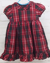 Ralph Lauren Baby Girls Plaid Christmas Dress Holiday Pictures Sz 18M Re... - $29.69