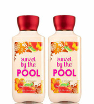 BATH & BODY WORKS Sunset By The Pool 8.0 Fluid Ounces Body Lotion Duo Set - $30.98