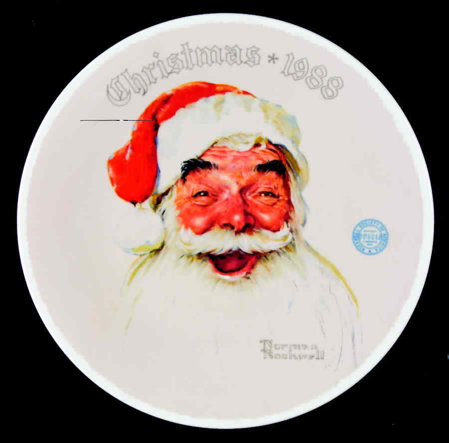 1988 Norman Rockwell Society Christmas Plate and 50 similar items