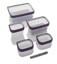 Zakarian Pro for Home 13-piece Storage Canister Set, Eggplant - €26,85 EUR