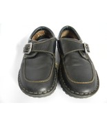 Womens Born Black Leather Upper Buckle Shoes, Size 6.5 M/W (37) - $31.99
