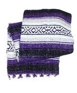 Purple Mexican Blanket - $14.55 CAD