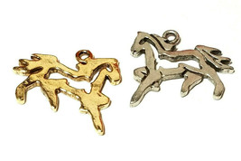 Running Horse Outline FINE PEWTER PENDANT CHARM - 23mm L x 20mm W x 1.5mm D image 1