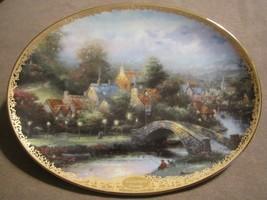 LAMPLIGHT COUNTY collector plate THOMAS KINKADE Lamplight Village - $19.99