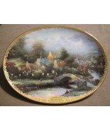 LAMPLIGHT COUNTY collector plate THOMAS KINKADE Lamplight Village - $19.99