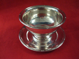 SILVER CHIP DISH WITH ATTACHED PLATE / PLAIN WITH EDGE DESIGN - $33.99