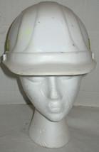 Vintage Safety Hat Hardhat Hard White Plastic Reflective Strips Prop Cos... - €16,64 EUR