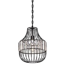 Westinghouse Lighting 6106300 One-Light Indoor Pendant, Matte Black Finish with  - $98.96