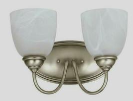 Lemont 2-Light Antique Brushed Nickel Bath Light w/ LED Bulbs Sea Gull Lighting - $37.62
