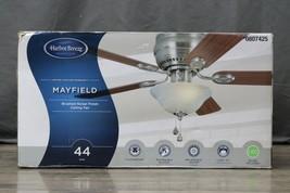"Harbor Breeze Mayfield 44"" Brushed Nickel Finish Indoor Ceiling Fan - $74.24"