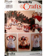 Vintage Christmas Pattern 7549  Variety of Tree Toppers, and Ornaments U... - $4.99