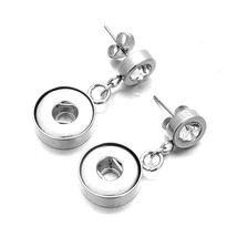 Stainless Steel 12Mm Snap Earrings Fashion Mini Button Stud Earrings For... - $25.99