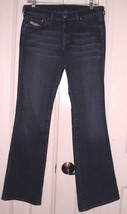 DIESEL RAME WOMEN'S BOOT CUT STRETCH JEANS FADED WISKERED SIZE 30 x 32 I... - $34.99