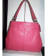 Coach Pebbled Leather Lexy Tote Shoulder Bag F57545 Strawberry Pink $395 NWT - $161.32