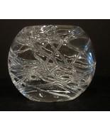 "Dartington Crystal Oval Vase 4"" Tall  - $10.99"