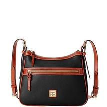 Dooney & Bourke Pebble Leather Presley Crossbody Bag Black