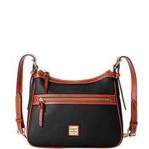 Dooney & Bourke Pebble Leather Presley Crossbody Bag Black