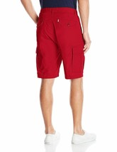 Levi's Men's Premium Cotton Carrier Twill Cargo Shorts Relaxed Fit Red 232510055 image 2