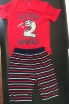 "GAP 2 piece set Short Sleeve & Shorts  Boys Pajama  Set ""Allergic Mornings Sz 8 - $14.85"