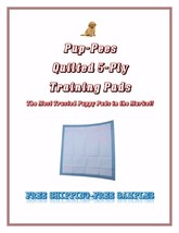 Quilted Pup-Pees Training Puppy Training Pads 5-Ply Asst'd Sizes FREE SA... - $42.99+