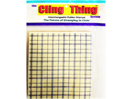 The Cling Thing Open Plaid Background Rubber Stamp #C1280-T