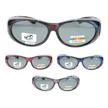 Womens Floral Print Antiglare Polarized No Glare 60mm Fitover Sunglasses - $12.82+